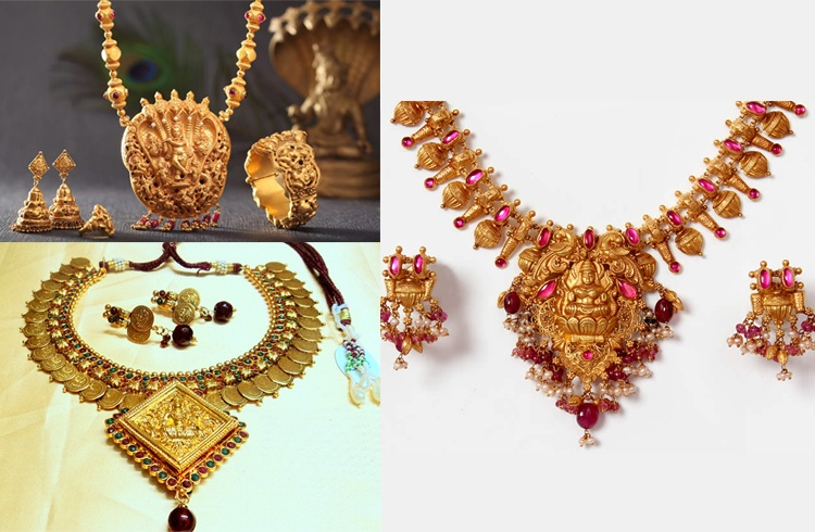 Temple Design Gold Jewellery