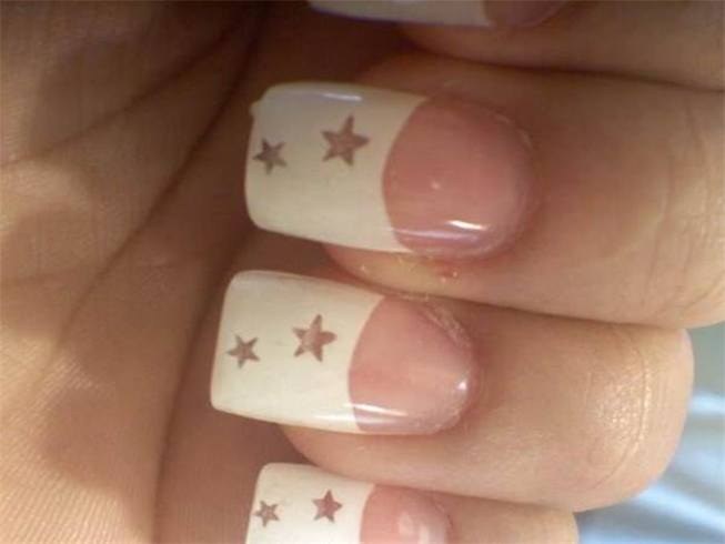 White French Tip Nailart