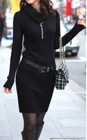 Black Winter Dress