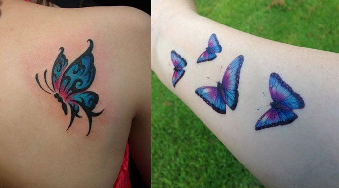 Blue Butterfly Tattoo Pics