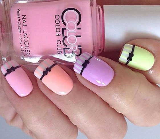 Bow Nail Designs For Women