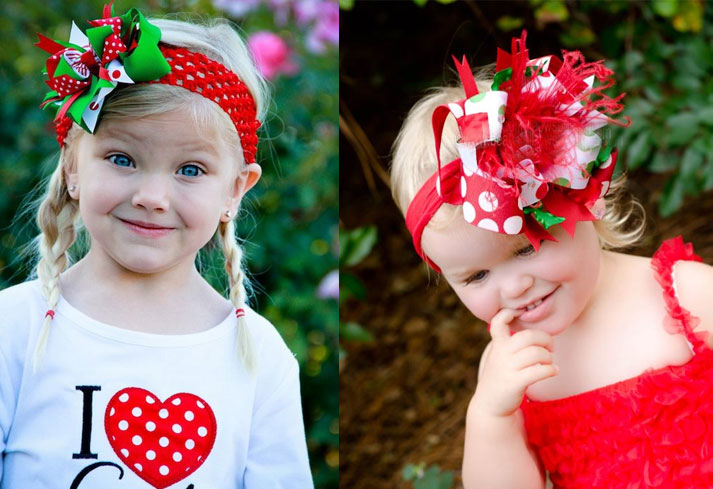 Christmas Bows For Toddlers And Girls