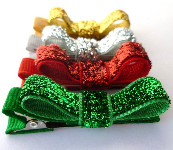 Christmas Glitter-Hair Bows