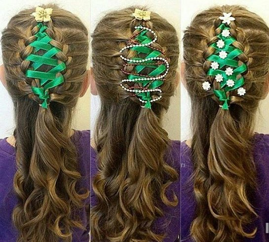 Corset Ribbon Braided Hairstyle