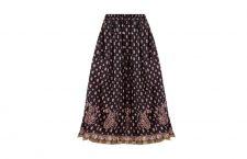 Printed Women's Regular Black Skirt