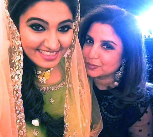 Farah Khan with the gorgeous bride