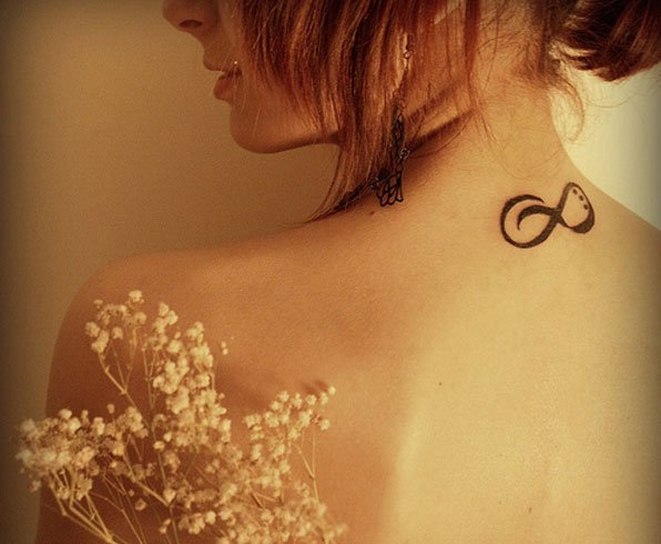 Infinity Tattoo on Neck