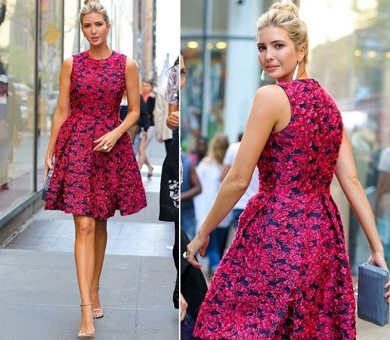 Ivanka Trump Floral Fashion