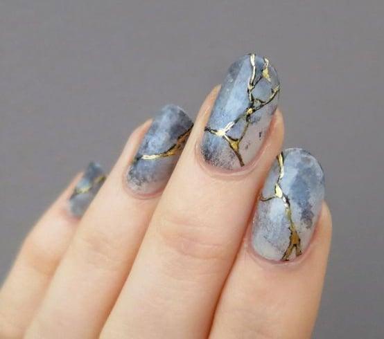 Japanese Marble Nails