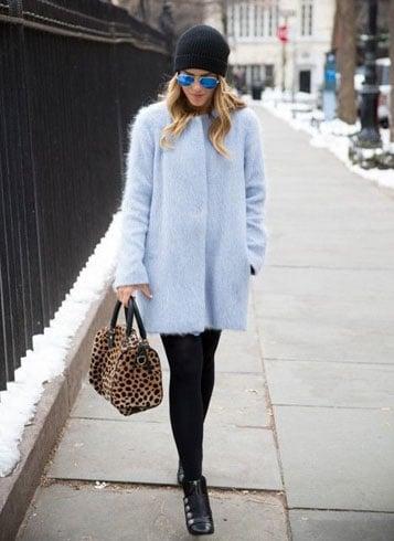 Light Blue Winter Dress