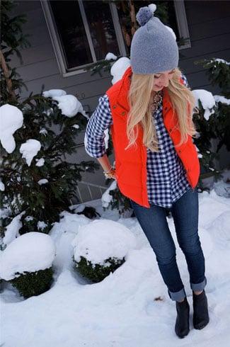 Orange Winter Dress