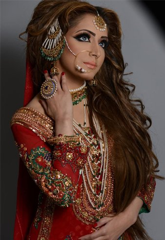 Pakistani Bridal Beautiful Hair Style