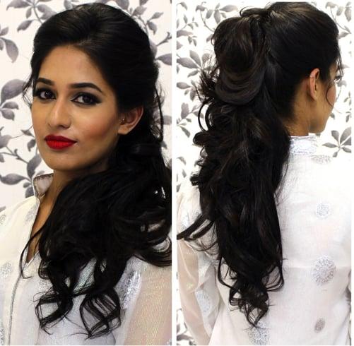 Pakistani Bridal Nice Hair Style