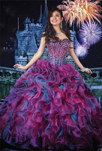 Quinceanera Bright Dress