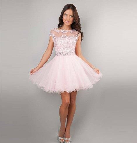 Quinceanera Lace Dress