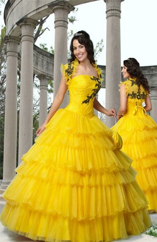 Quinceanera Yellow Dress