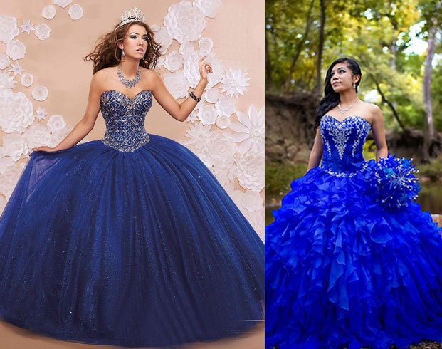 Royal Blue Quinceanera Dresses For Women