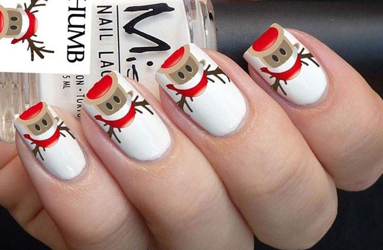 Rudolph On Your Nails