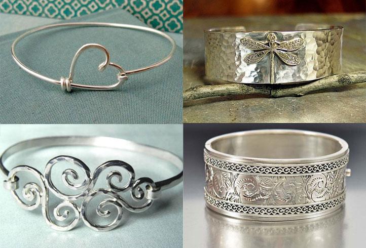Silver Bangles For Christmas