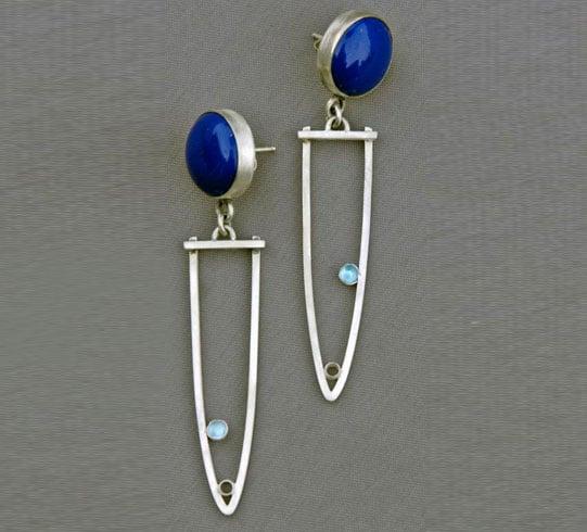 Silver Christmas Earrings.
