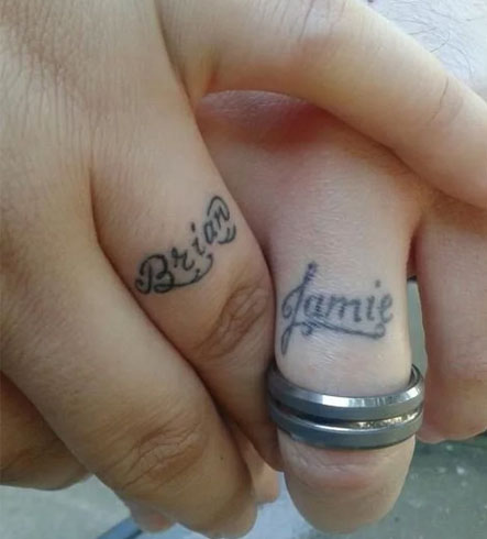 Tattoo Wedding Rings The New Way Of Exchanging Of Vows