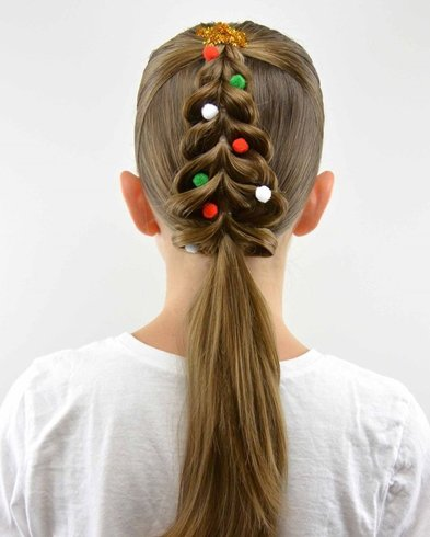 The Christmas Tree Hairstyle
