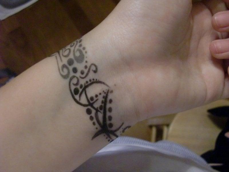 tribal Wrist Tattoo