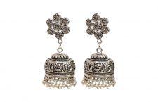 Silver, Alloy Jhumki Earring