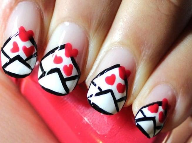 Valentine Marble Nail Polish