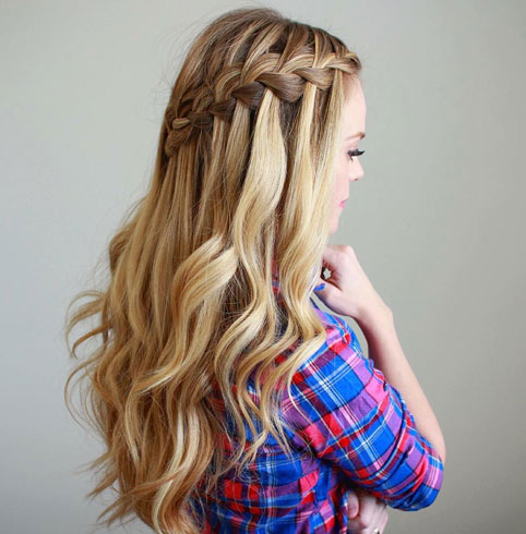 Waterfall Side Braid
