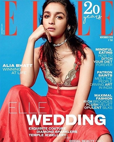 Alia Bhatt On Elle
