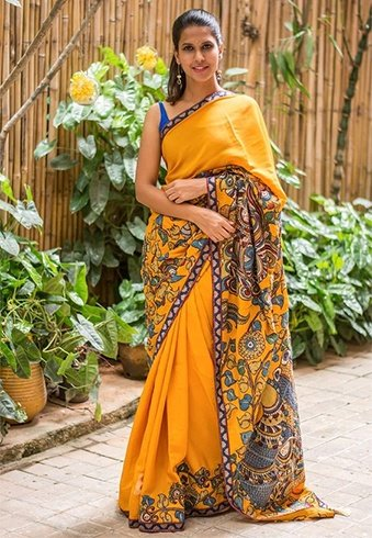 Best Applique Saree Designs