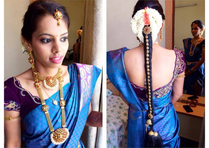 traditional marriage hair styles 35 simple and trending hairstyles with sarees 2018 5337