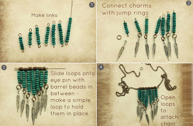 Boho Chic Necklace Step by Step