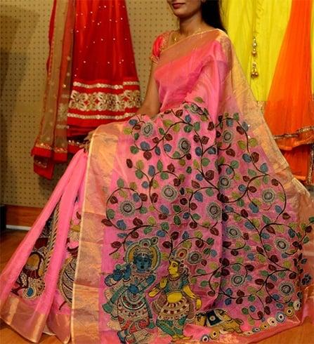 Designer Kalamkari Work Sarees