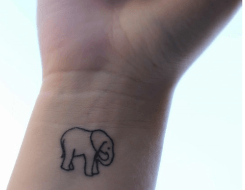 elephant wrist tattoo
