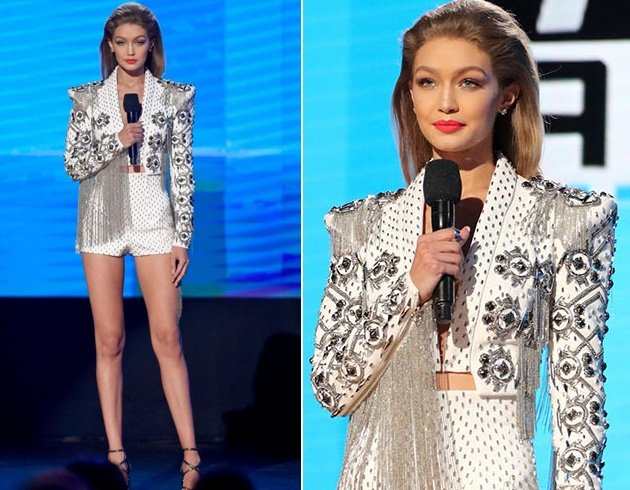 Gigi Hadid Outfits at American Music Awards