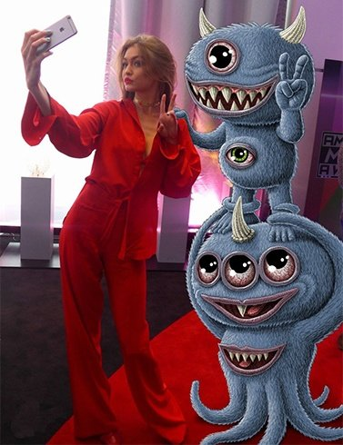 Gigi Hadid Photoshoot at AMAs