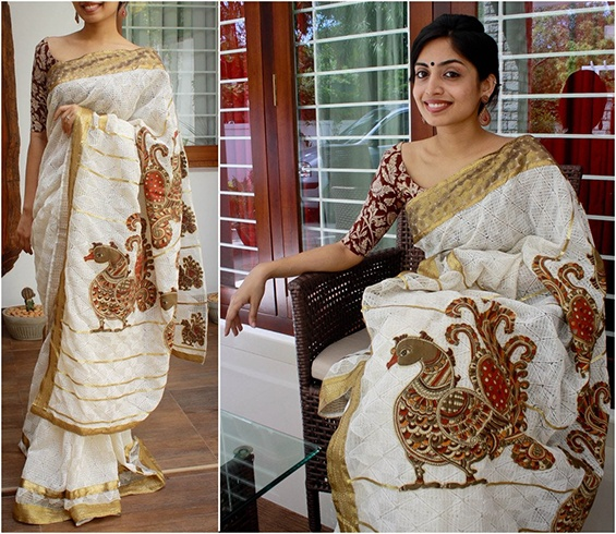 Kalamkari Work Saree