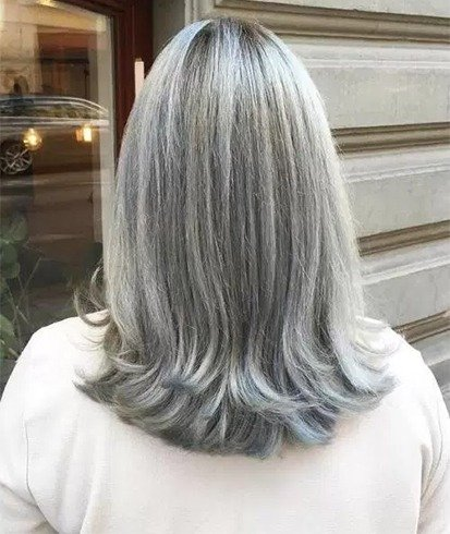 Layered Gray Hairstyle