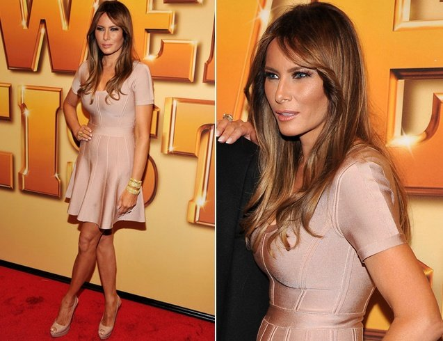 Melania Trump at Premier of Tower Heist