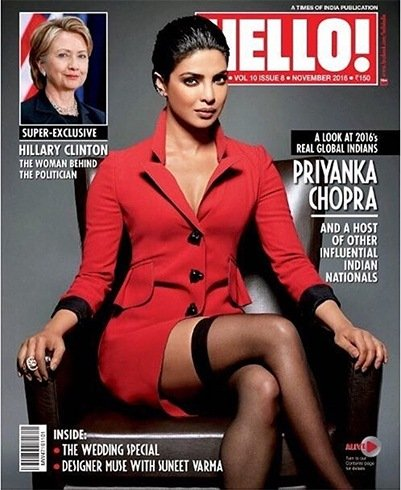 Priyanka Chopra On Hello Magazine
