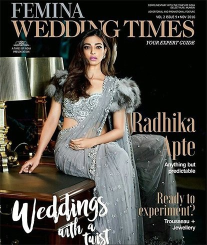 Radhika Apte On Femina Wedding Times