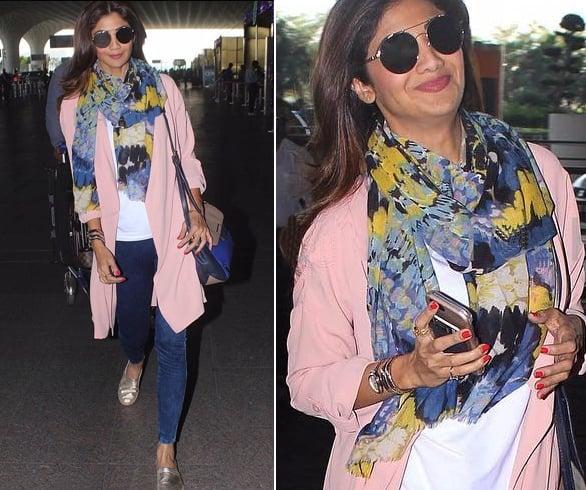 Shilpa Shetty Airport Styles