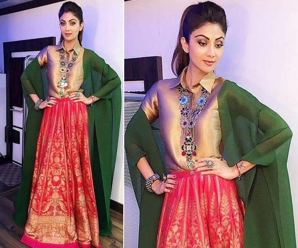 Shilpa Shetty Manish Malhotra Outfit