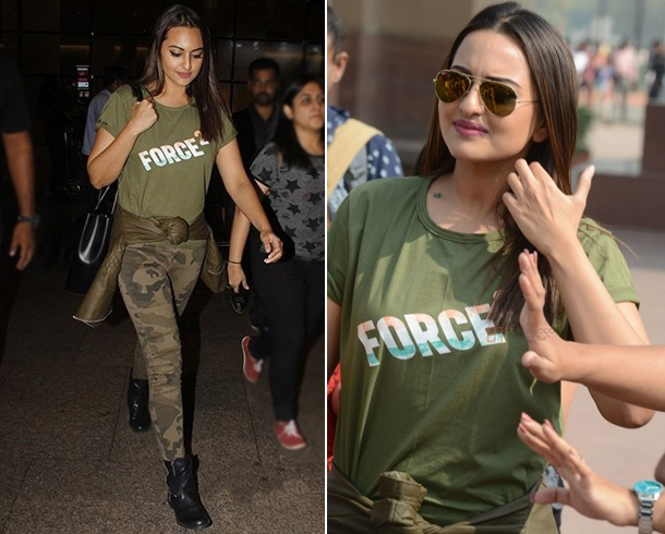 Sonakshi Sinha Airport Fashion