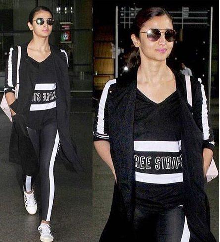 Alia Bhatt With Adidas Fashion