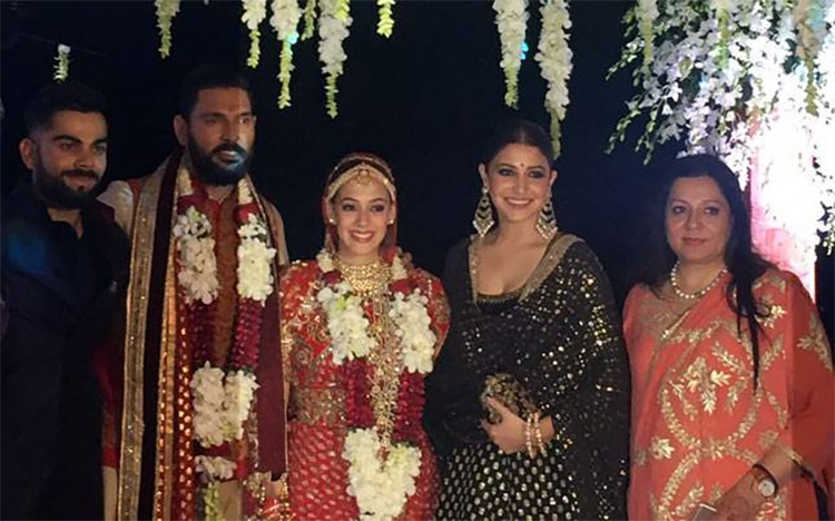 Celebrites at Yuvraj Singh Wedding