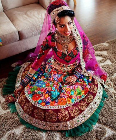 Colourful Lehenga For Wedding