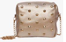 Golden Polyurethane (Pu) Sling Bag